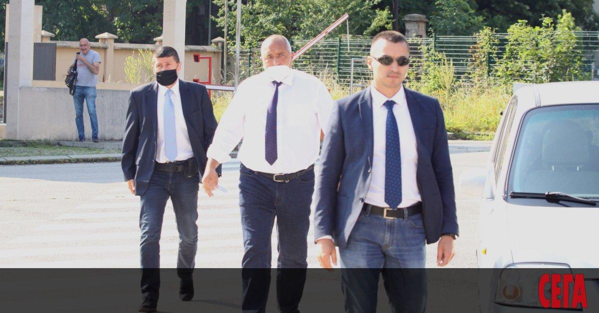 Премиерът Бойко Борисов се яви в специализираната прокуратура на ул.