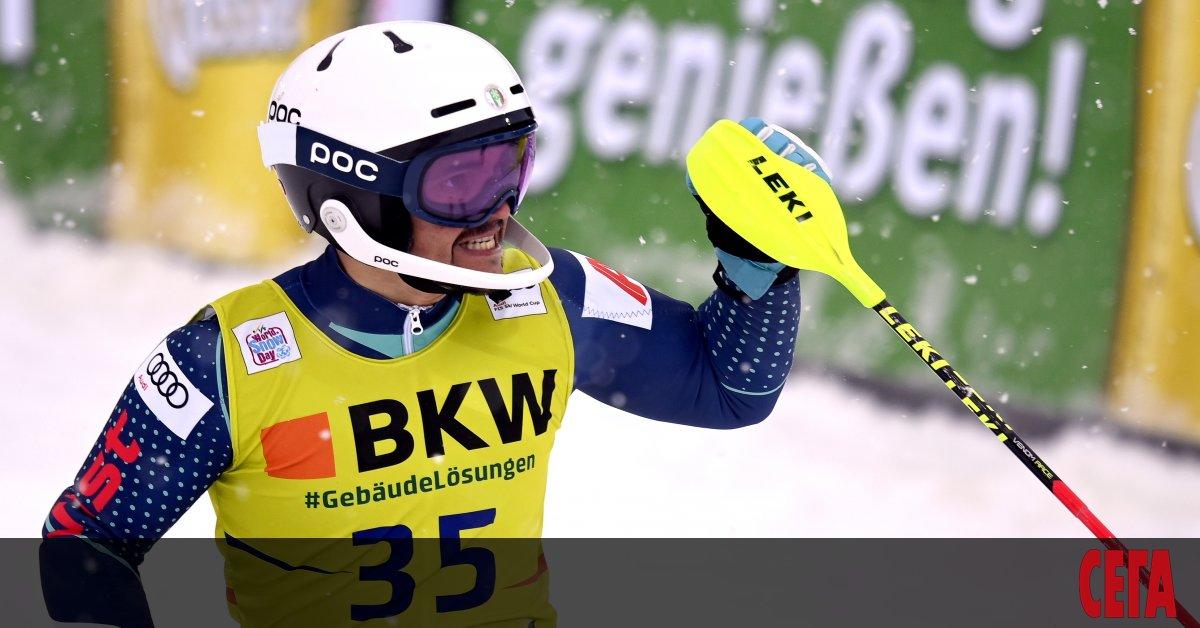 Най-добрият бългаски скиор-алпиец в момента - Алберт Попов, спечели първите