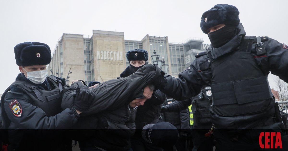 В над 60 руски града се проведоха демонстрации в защита