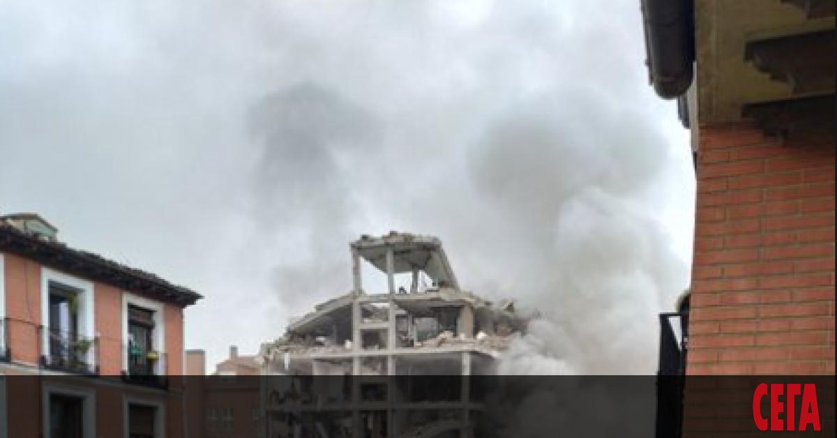 Силна експлозия унищожи сграда в Мадрид, предаде La Sexta TV.