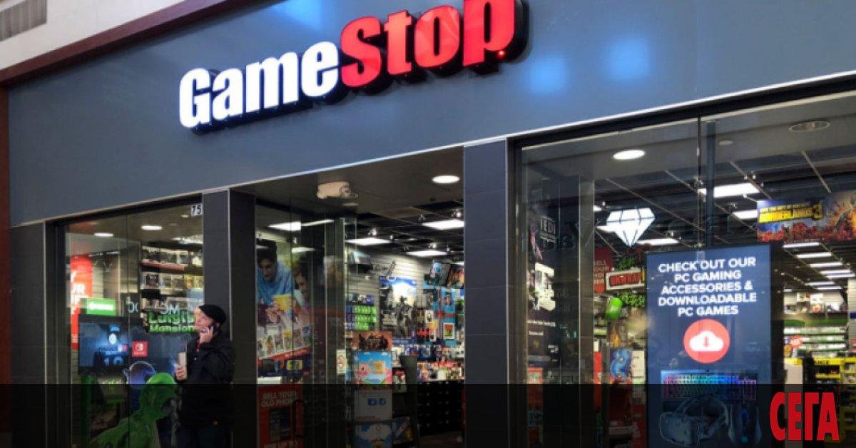 Акциите на GameStop Corp поскъпват с близо 50% на извънборсовата