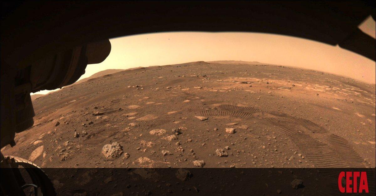 МарсоходътPerseverance направи своята първа тестова разходка по повърхността на Червената