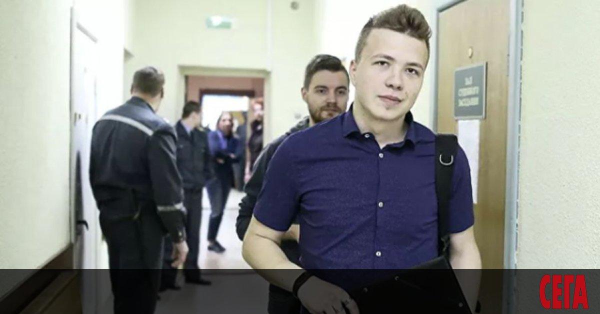 Беларуският опозиционер Роман Протасевич, който бе арестуван след принудителното кацане