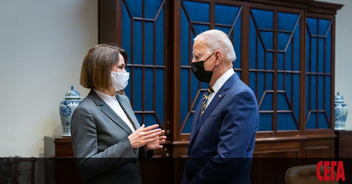 Президентът наСАЩ Джо Байдън се срещна с лидерката на беларуската