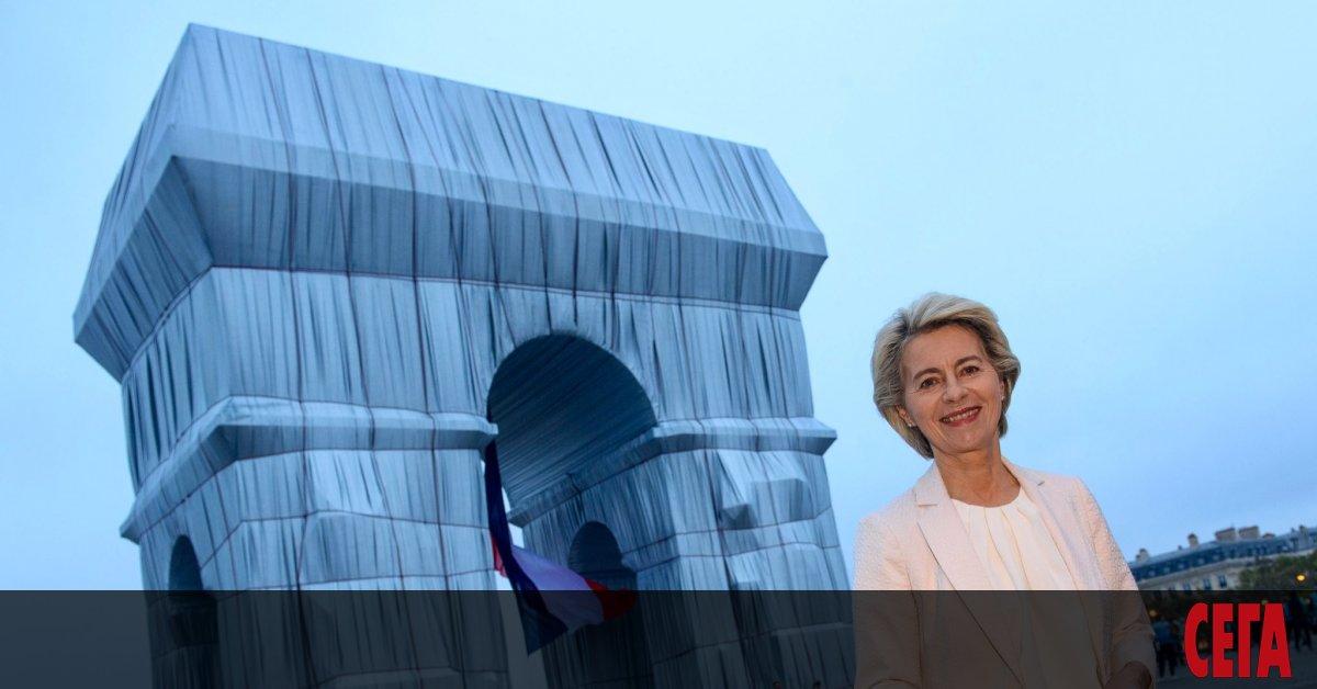 Председателят на Европейската комисия Урсула фон дер Лайен посети опакованата