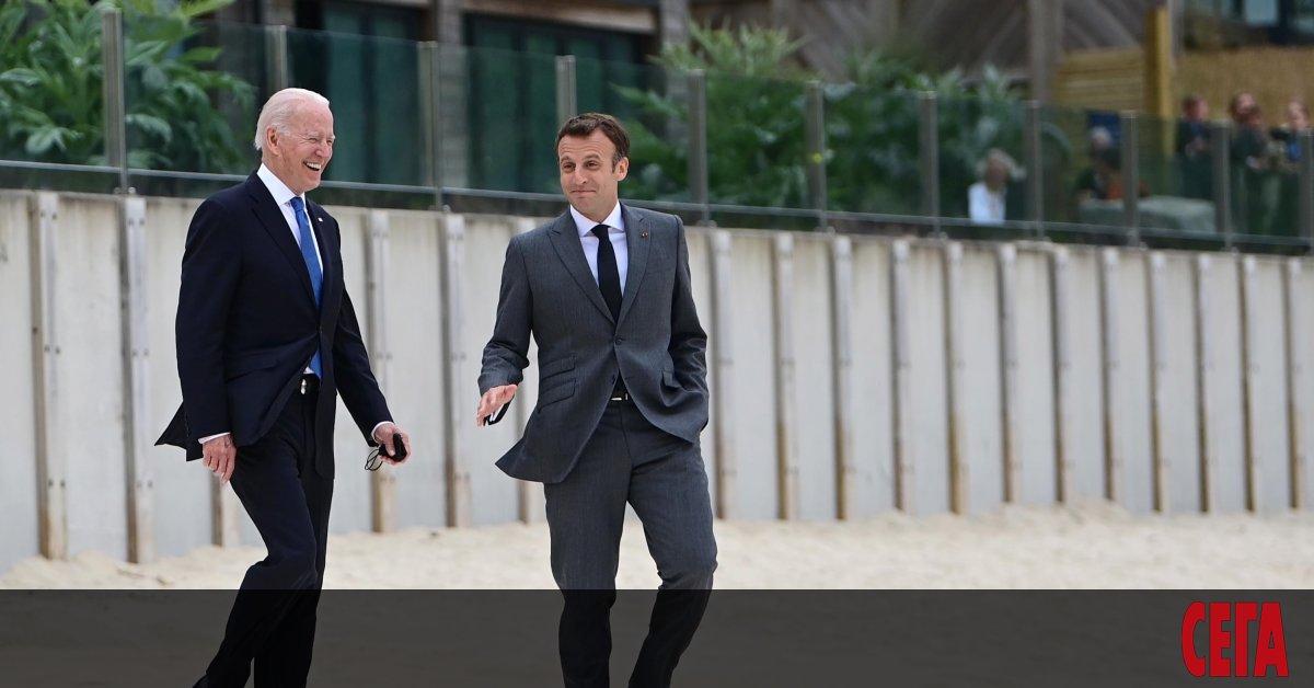 Президентите на САЩ Джо Байдън и на Франция Еманюел Макрон