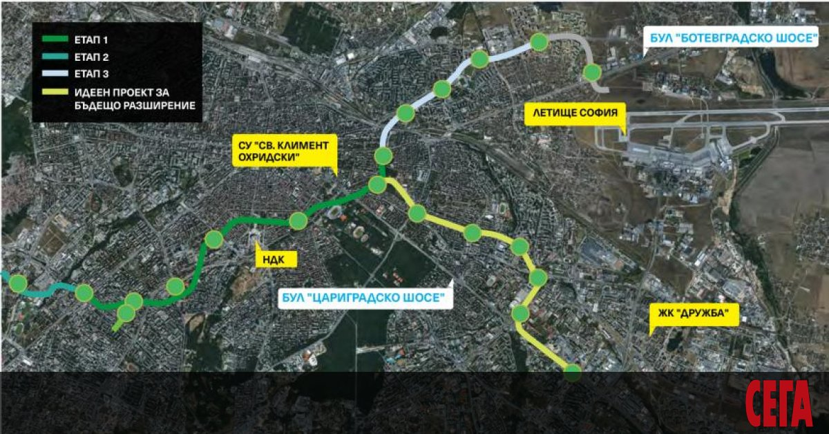 Плановете на Столична община за бъдещо разширение на третия метродиаметър